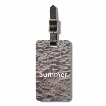 Beach Themed Footsteps in The Sand Beach Summer Holiday Bag Tag