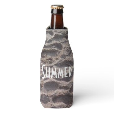 Beach Themed Footsteps in The Sand Beach Summer Holiday Bottle Cooler