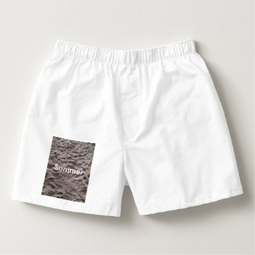 Beach Themed Footsteps in The Sand Beach Summer Holiday Boxers