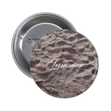 Beach Themed Footsteps in The Sand Beach Summer Holiday Button