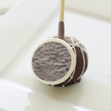 Beach Themed Footsteps in The Sand Beach Summer Holiday Cake Pops
