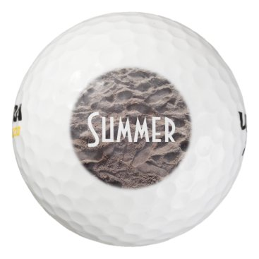 Beach Themed Footsteps in The Sand Beach Summer Holiday Golf Balls
