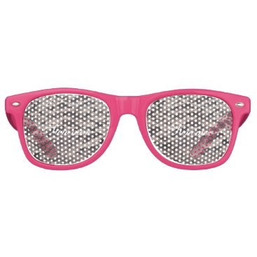 Beach Themed Footsteps in The Sand Beach Summer Holiday Retro Sunglasses