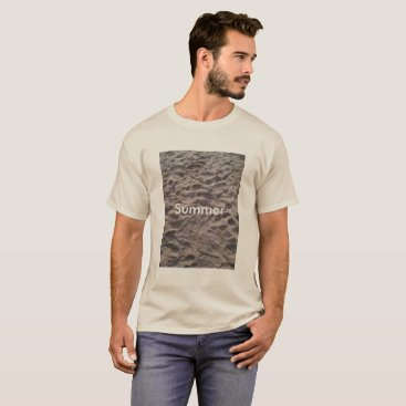 Beach Themed Footsteps in The Sand Beach Summer Holiday T-Shirt