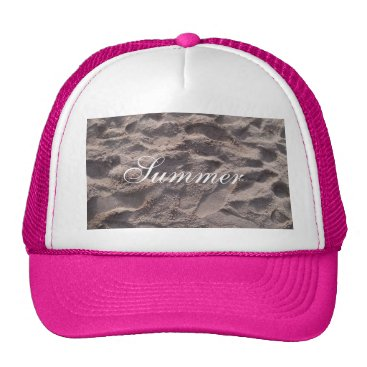 Beach Themed Footsteps in The Sand Beach Summer Holiday Trucker Hat