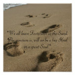 Footsteps in the Sand Print