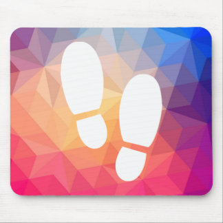 Footsteps Shoes Sign Mouse Pad