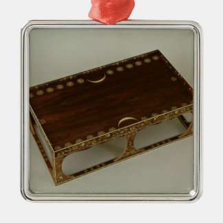 Footstool, with ivory inlay, Nara Metal Ornament