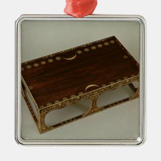 Footstool, with ivory inlay, Nara Ornament