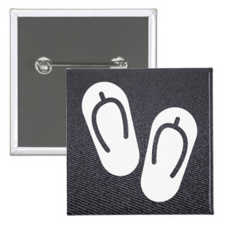 Footwear Pairs Graphic 2 Inch Square Button