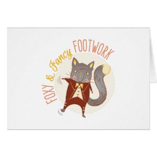 Footwork astuto tarjeta de felicitación