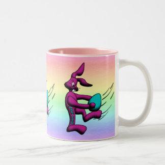 Footy Bunny Two-Tone Coffee Mug