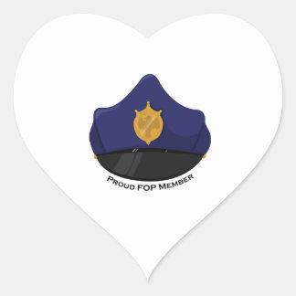 FOP Member Heart Sticker