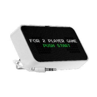For 2 Player Game Push start iPod Speaker