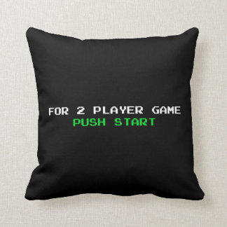 For 2 Player Game Push start Throw Pillow