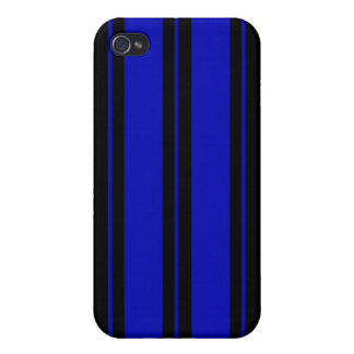 for 4 Black/ Blue Stripes iPhone 4/4S Cover