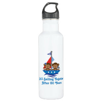 For 50th Wedding Anniversary Monkey Stainless Steel Water Bottle
