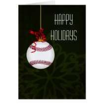 for a baseball player Christmas Cards
