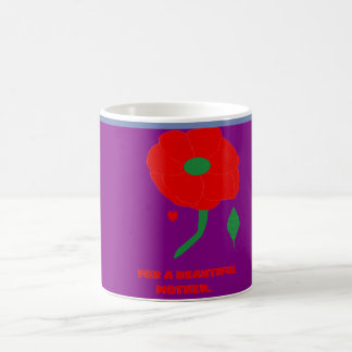 FOR A BEAUTIFUL MOTHER PURPLE MUG WITH ROSE