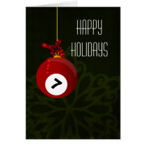 for a billiard player Christmas Cards