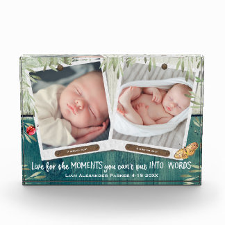 For a Boy Your Own Two Photos with Personalization Acrylic Award