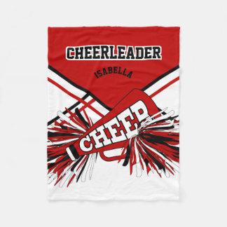 For a Cheerleader - Red, White & Black Fleece Blanket