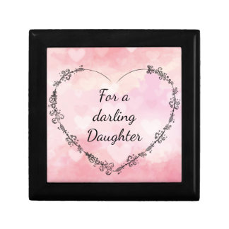 For a darling Daughter Keepsake Box