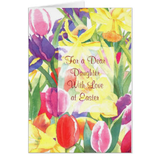 For a Dear Daughter With Love at Easter Card