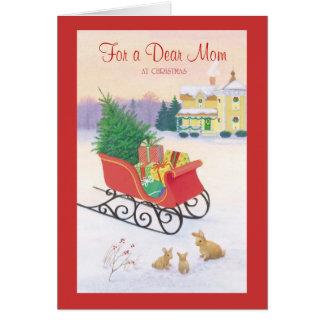 For a Dear Mom at Christmas Card