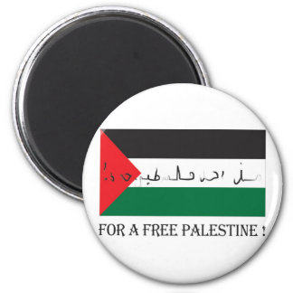 For a free palestine! magnet