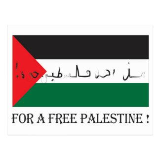 For a free palestine! postcard
