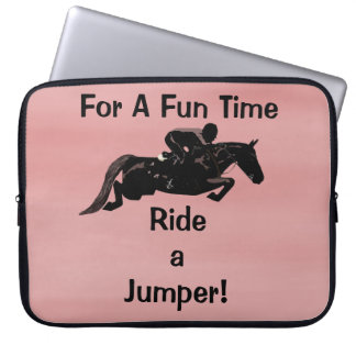 For A Fun Time, Ride A Jumper Laptop Sleeves