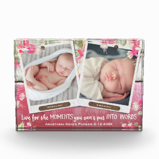 For a Girl Pink Cute ANY Two Photos Personalized Award