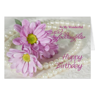 For a goddaughter, a birthday card with daisies