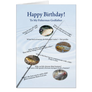 For a godfather, Fishing jokes birthday card