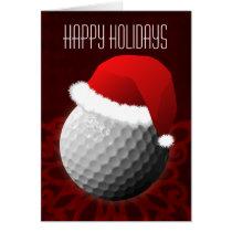 for a golfer Christmas Cards