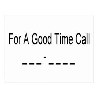 For A Good Time Call _ _ _ - _ _ _ _ Postcard