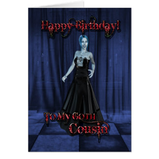 For a Goth cousin,A Vampire Birthday card