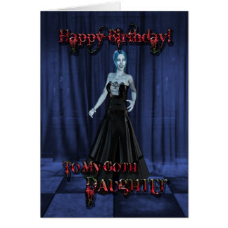 For a Goth daughter,A Vampire Birthday card