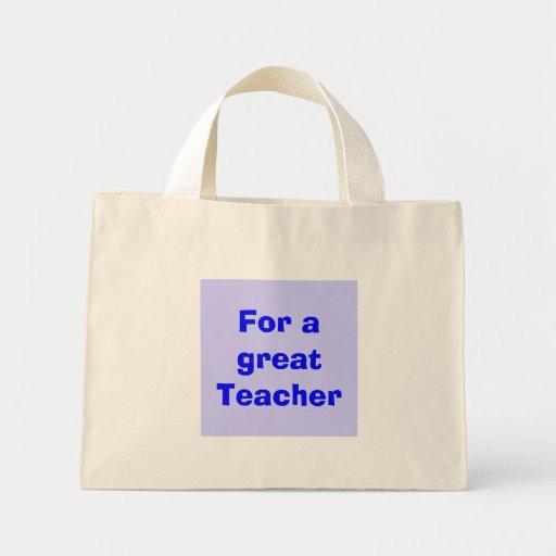 For a great Teacher Canvas Bag