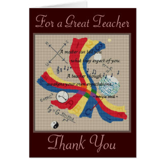 FOR A GREAT TEACHER GREETING CARD