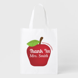 For a great teacher, Teacher appreciation apple Grocery Bags