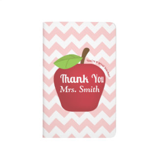 For a great teacher, Teacher appreciation apple Journal