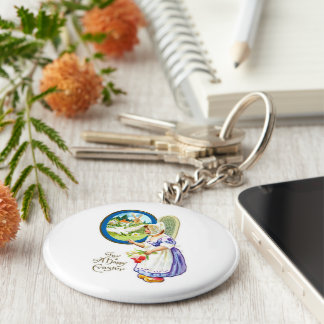 For A Happy Easter Basic Round Button Keychain