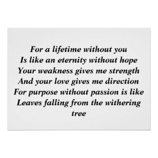 For a lifetime without you print