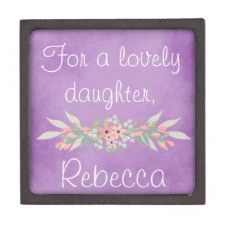 For a lovely daughter keepsake box