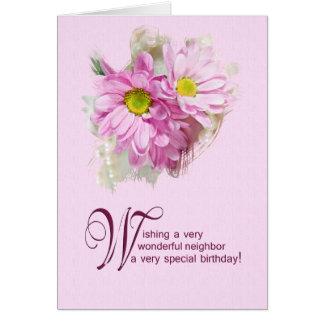 For a neighbor, a birthday card with daisies