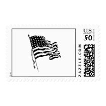 For a patriot from the USA: American Flag Postage