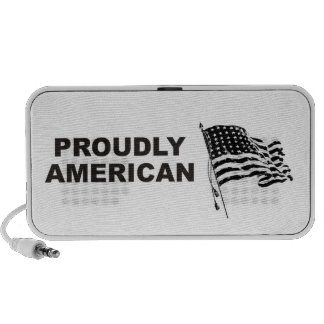For a patriot from the USA: American Flag Travelling Speakers