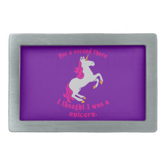 For a second there I thought I was a unicorn Rectangular Belt Buckle